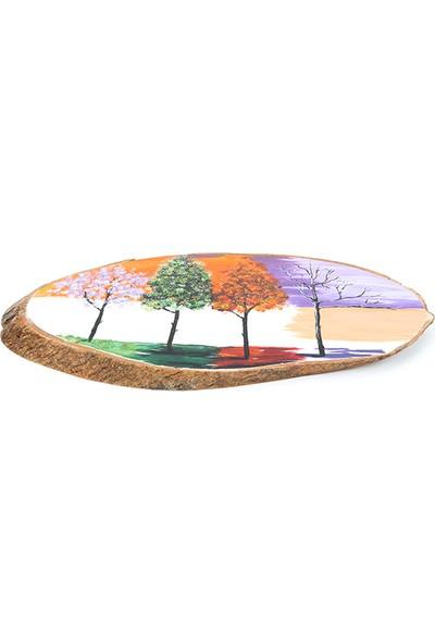 Ağaçtanya Kütük Tablo 23 x 40 cm