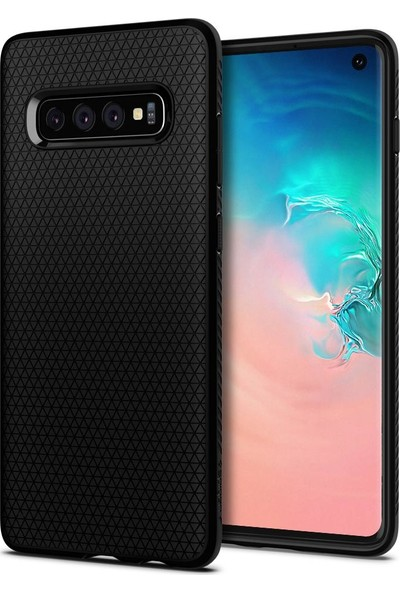 Spigen Samsung Galaxy S10 Kılıf Liquid Air Matte Black - 605CS25799