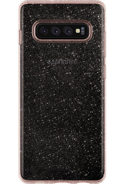 Spigen Samsung Galaxy S10 Kılıf Liquid Crystal Glitter Rose Quartz - 605CS25798