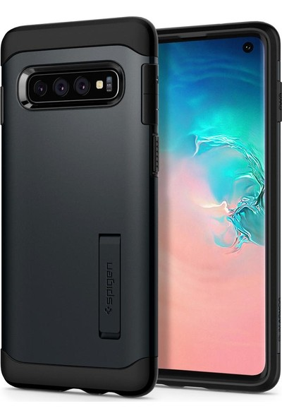 Spigen Samsung Galaxy S10 Kılıf Slim Armor Metal Slate - 605CS25918