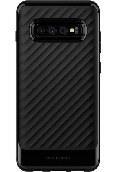 Spigen Samsung Galaxy S10 Plus Kılıf Neo Hybrid Midnight Black - 606CS25773