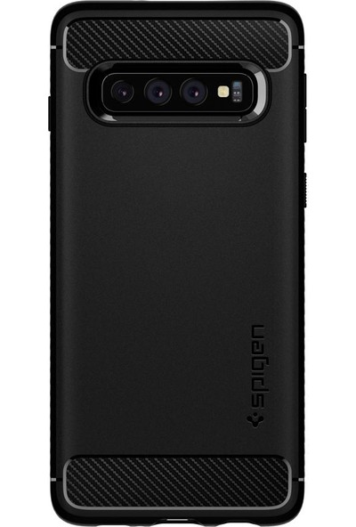 Spigen Samsung Galaxy S10 Plus Kılıf Rugged Armor Matte Black - 606CS25765