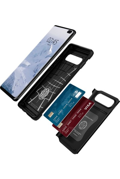 Spigen Samsung Galaxy S10 Plus Kılıf Slim Armor CS Black - 606CS25781