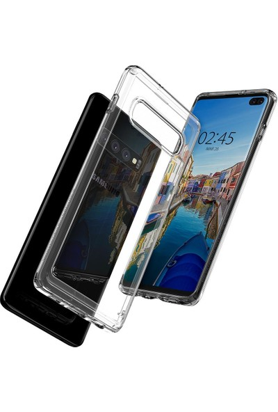 Spigen Samsung Galaxy S10 Plus Kılıf Ultra Hybrid Crystal Clear - 606CS25766