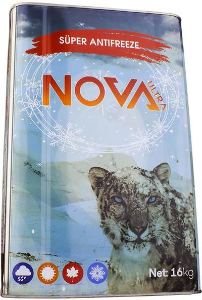 Nova Ultra -40 Derece Organik Kırmızı Antifriz 16Kg Teneke