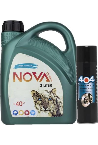 Nova Ultra -40 Derece 3 Litre Yeşil Antifriz +Balata Temizleme Sp