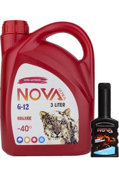 Nova Ultra -40 Derece Organik Kırmızı Antifriz 3Lt +Mazot Katkısı