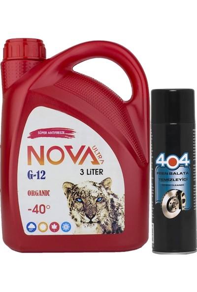 Nova Ultra -40C Organik Kırmızı Antifriz 3Lt +Balata Temizleyici