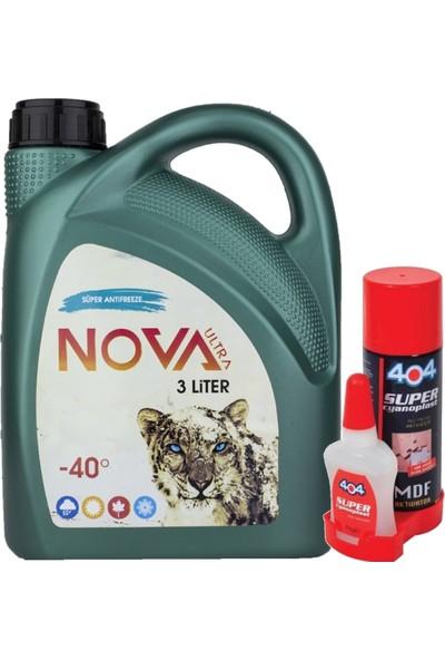 Nova Ultra -40 Derece 3 Litre Yeşil Antifriz +Mdf Yapıştırıcı