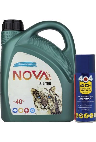 Nova Ultra -40 Derece 3 Litre Yeşil Antifriz +Yağlama Spreyi