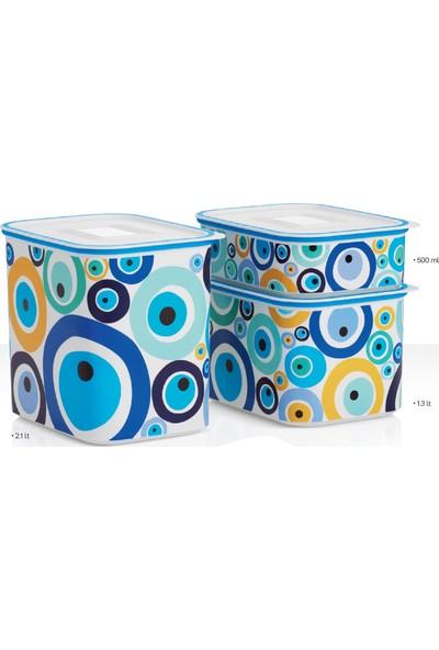 Tupperware Su Mavi Boncuk Set 3'Lü