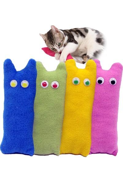 Petviya Oynar Gözlü ve Çıngıraklı Kedi Oyun Yastığı 16x6 Cm