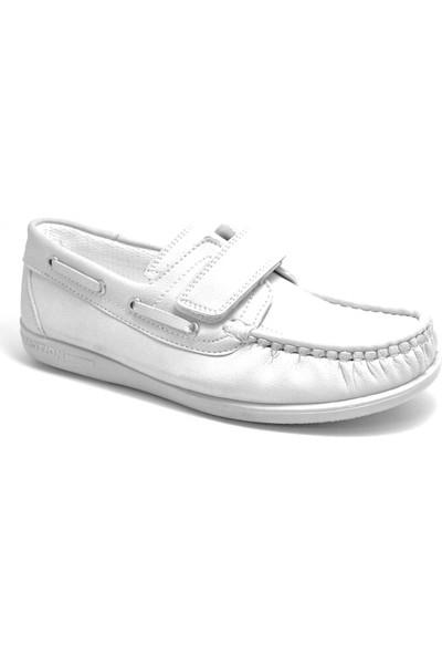 Raker Feniks Beyaz Cırt Cırtlı Günlük Erkek Genç Ayakkabı
