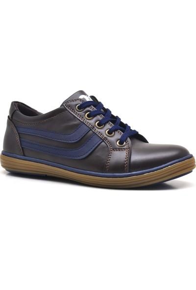 Olgars Kahverengi Fermuarlı Erkek Çocuk Spor Ayakkabı