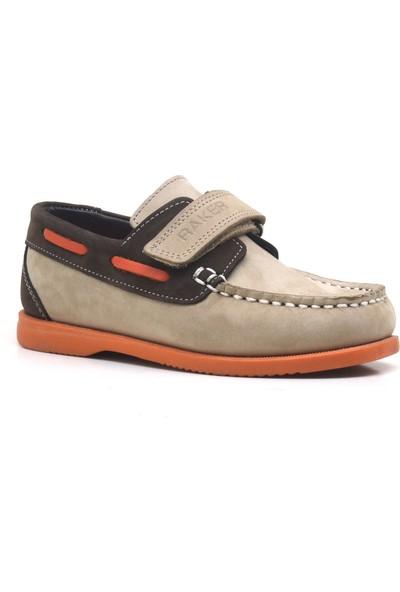 Raker Plus Simurg Deri Kum Rengi Günlük Erkek Çocuk Ayakkabı