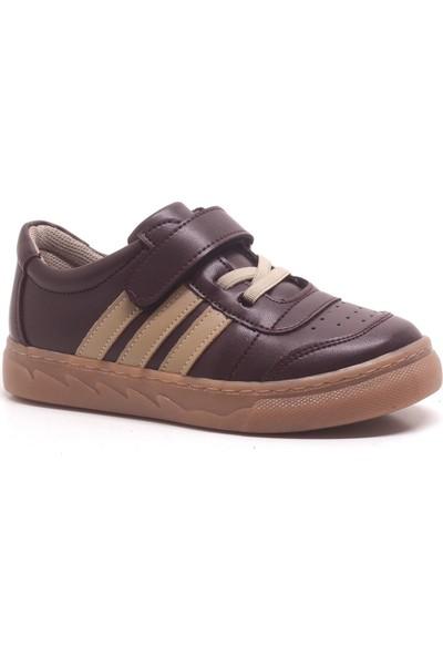 Papixx Bordo Cırtlı Erkek Çocuk Spor Okul Ayakkabısı