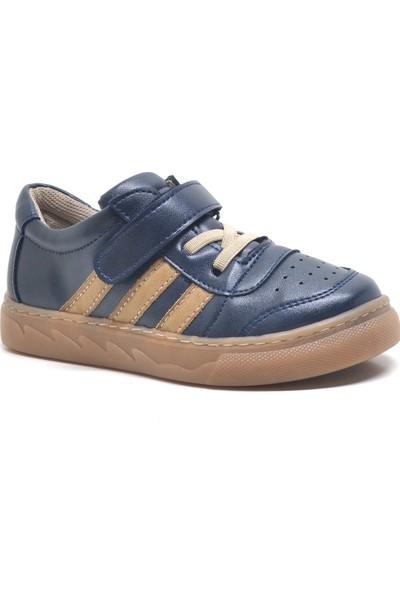 Papixx Lacivert Cırtlı Erkek Çocuk Spor Okul Ayakkabısı