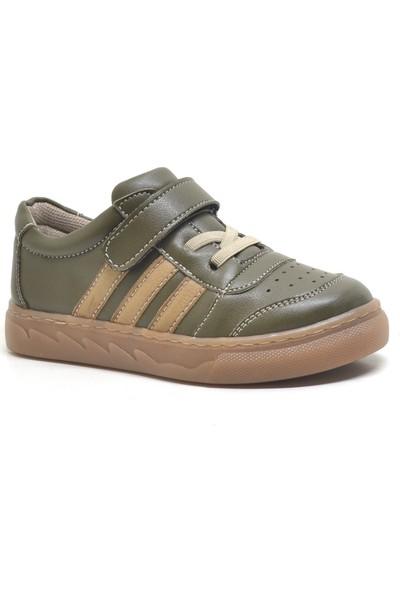 Papixx Yeşil Cırtlı Erkek Çocuk Spor Okul Ayakkabısı