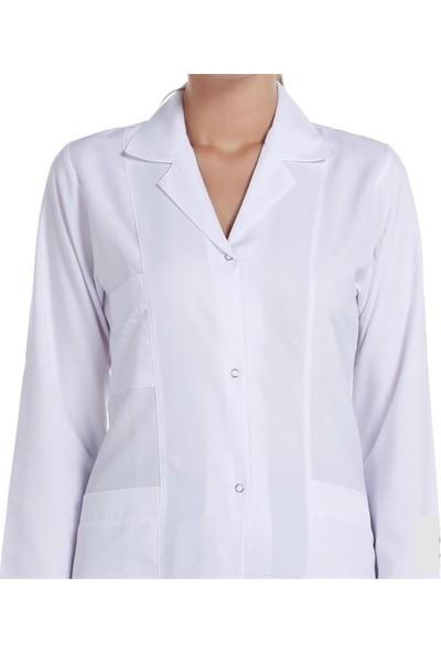 Mete Ilgın Bayan Doktor Öğretmen Laboratuar Önlük Beyaz