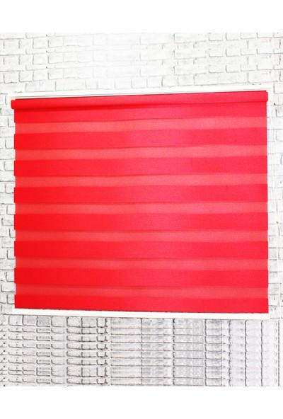 Sezerler Perde Bambu Zebra Perde Kırmızı 100x200