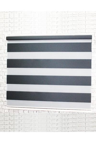 Sezerler Perde Pliseli Zebra Perde Siyah 100x200