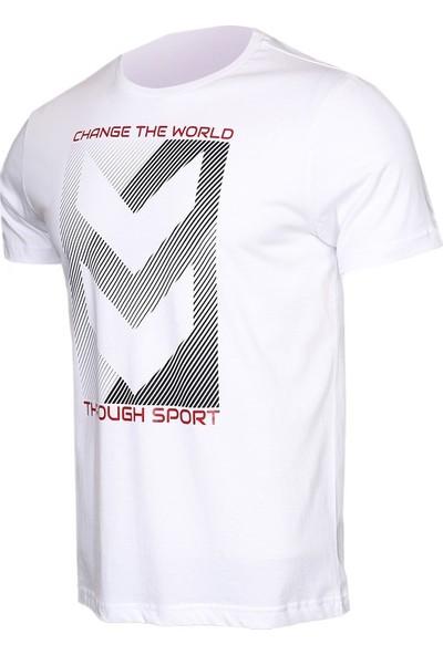 Hummel Beyaz Erkek Günlük Tişört 910391-9001