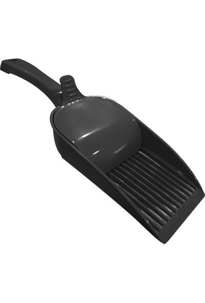 Strong Hazneli Kedi Kumu Toplama Küreği Siyah 35 cm