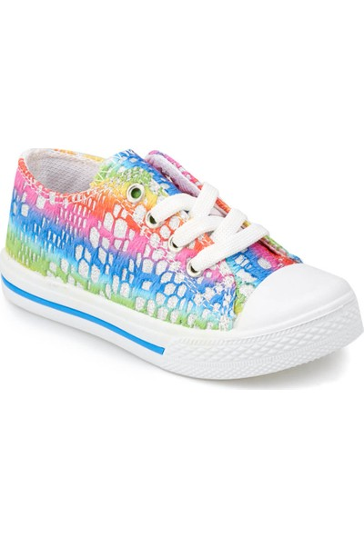 Kinetix Denni R Yeşil Mavi Mor Kız Çocuk Sneaker Ayakkabı