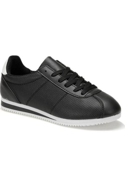 Torex Soren Siyah Beyaz Kadın Sneaker Ayakkabı