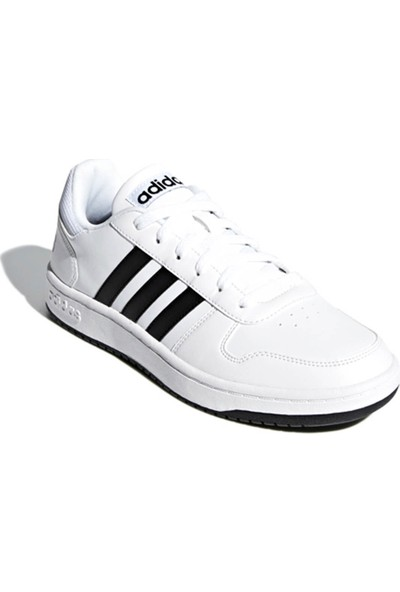 Adidas Hoops 2.0.. Beyaz Siyah Erkek Sneaker Ayakkabı