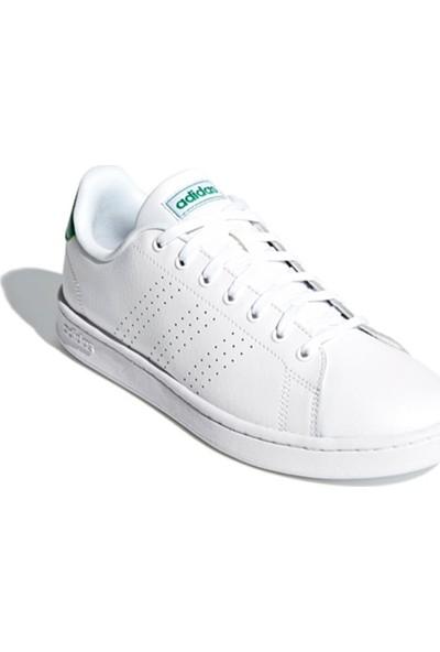Adidas Advantage Beyaz Beyaz Yesil Erkek Sneaker Ayakkabı