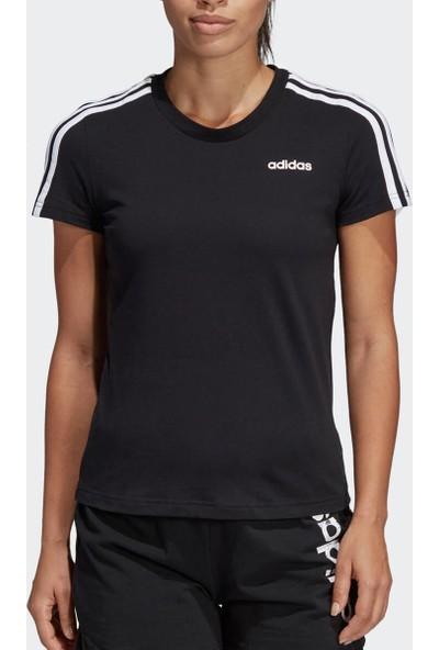 Adidas W E 3S Slim Tee Siyah Beyaz Kadın T-Shirt