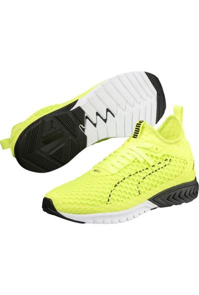 402c2c4067bef Puma İgnite Dual Netfit Açık Sarı Siyah Erkek Koşu Ayakkabısı