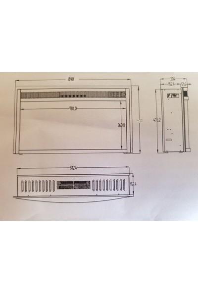 Boge Bef 33 Bmc Elektrikli Panoramik İthal Şömine