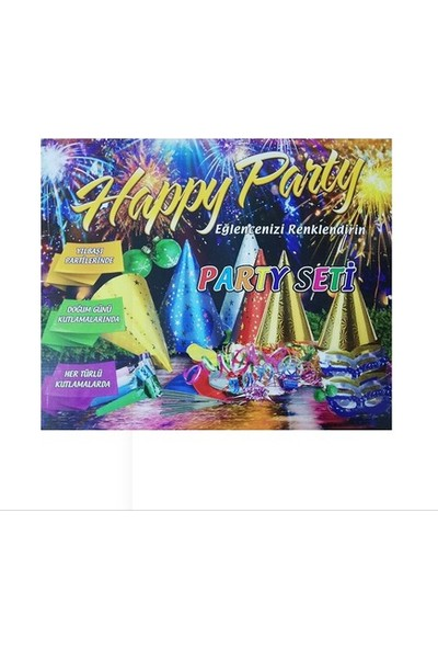 Happy Party Karton Kutulu Parti Seti