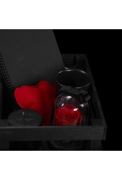 Thefonsbox Solmayan Gül İle Beraber Hediye Kasası