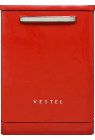 Vestel BM-500 A++ 5 Programlı Retro Kırmızı Bulaşık Makinesi
