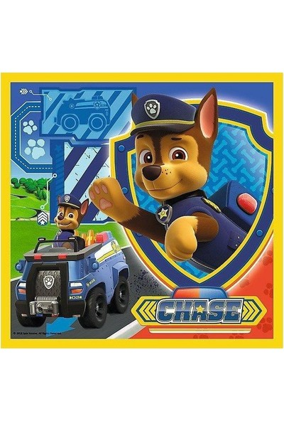 Trefl Puzzle Marshall, Rubble And Chase, Paw Patrol 20+36+50 Parça 3 İn 1 Puzzle