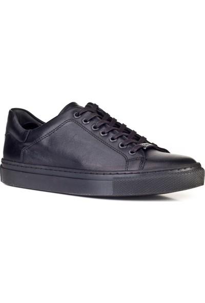 Cabani Sneaker Ayakkabı Siyah Deri