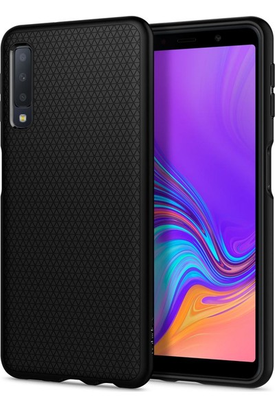 Spigen Samsung Galaxy A7 (2018) Kılıf Liquid Air Matte Black - 608CS25555