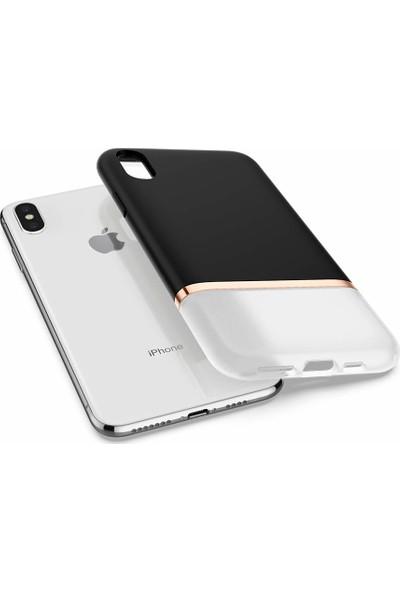 Spigen Apple iPhone XS / iPhone X Kılıf La Manon Jupe Milk Black - 063CS25368