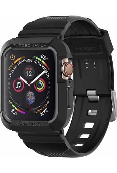 Spigen Apple Watch Serisi 4 (44mm) Kılıf Rugged Armor Pro Black - 062CS25324