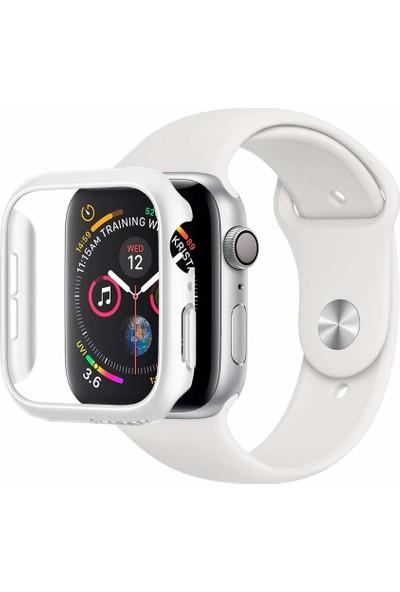 Spigen Apple Watch Serisi 4 (44mm) Kılıf Thin Fit White - 062CS24475