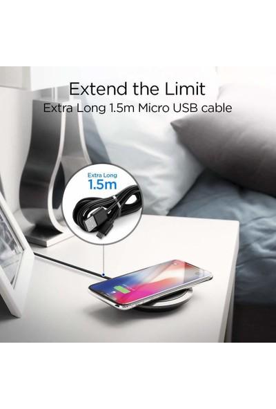 Spigen Essential F308W Hızlı Kablosuz Şarj Cihazı iOS 7.5W / Android 10W (QI Sertifikalı Tüm Cihazlar ile Uyumlu) - 000CH23122