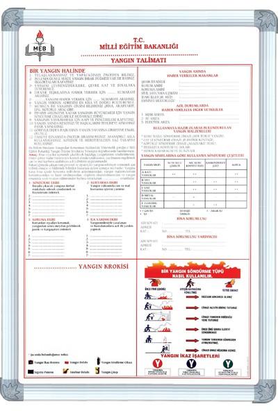 Abc 50X70 Cm Alüminyum Çerçeve Yangın Güvenlik Talimatı