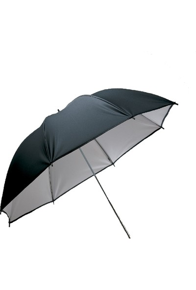 Visico Ub-002 110Cm Siyah / Beyaz Şemsiye