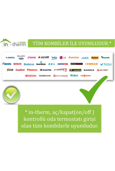 İn-Therm Mrl 300 Rf Tm Dijital Kablosuz Oda Termostatı İn-Therm