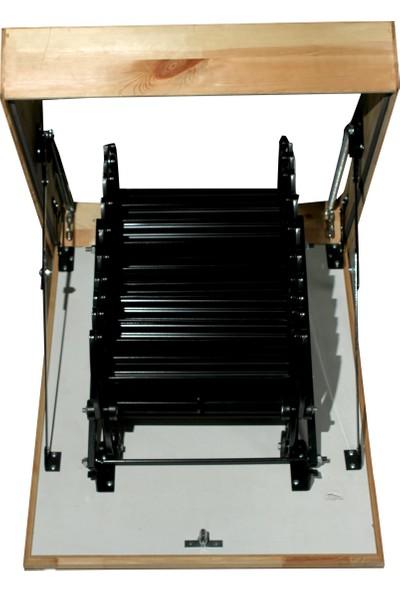 2Mm Ahşap Akordeon Metal Çatı Merdiveni 60X80 Cm