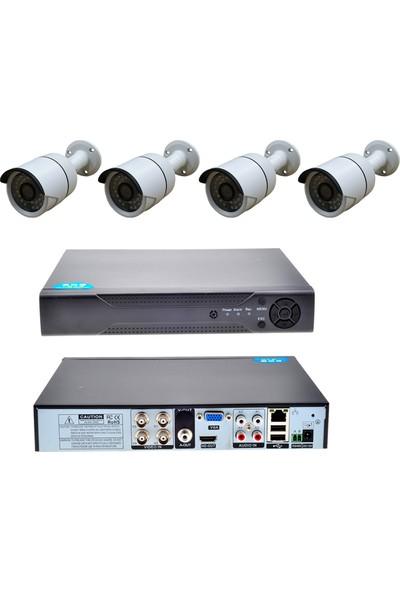 Picam Güvenlik Kamera Seti 2MP 4 kameralı Set DVR 4 Kanal Kayit Cihazı AHD Kamera