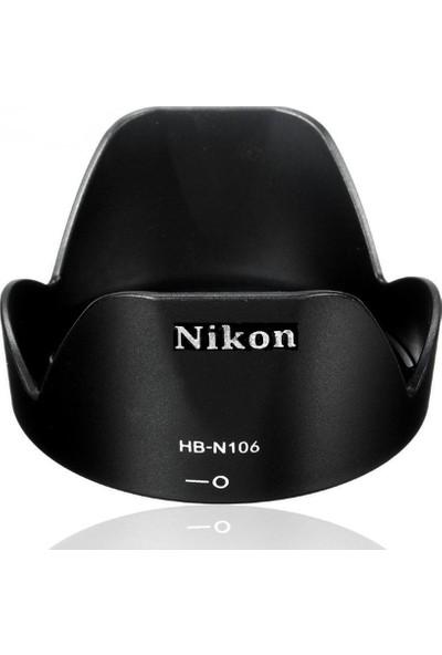 Azt Nikon AF-P DX 18-55mm F3.5-5.6G VR Lens için Hb-n106 Bayonet Parasoley